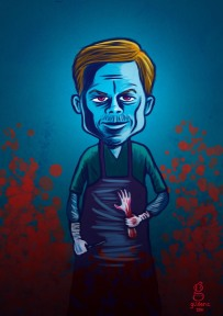 Dexter (caricature) - Dessin de Gilderic)
