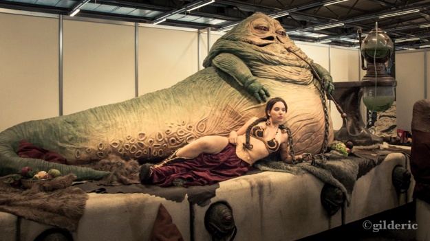 Princesse Leia et Jabba le Hutt (Facts 2010) - Photo : Gilderic