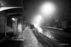 Entre neige et brouillard (Liège, Belgique) - Photo : Gilderic