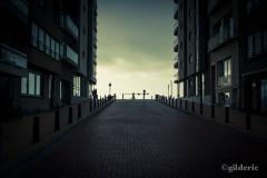 La plage invisible (Blankenberge, Belgique) - Photo : Gilderic