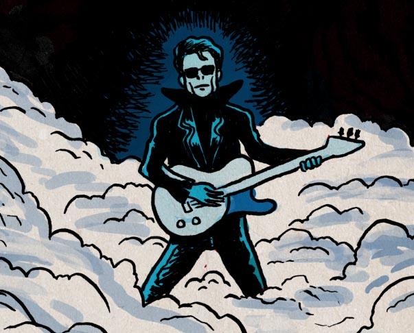 Lou Reed (detail) - Dessin de Gilderic