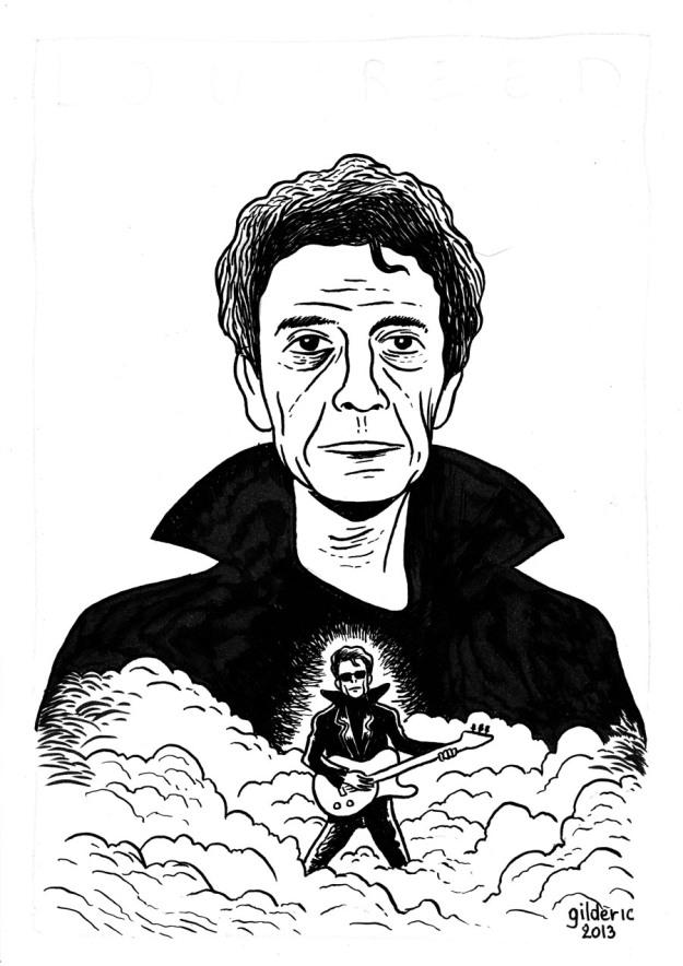 Lou Reed - Dessin noir et blanc de Gilderic