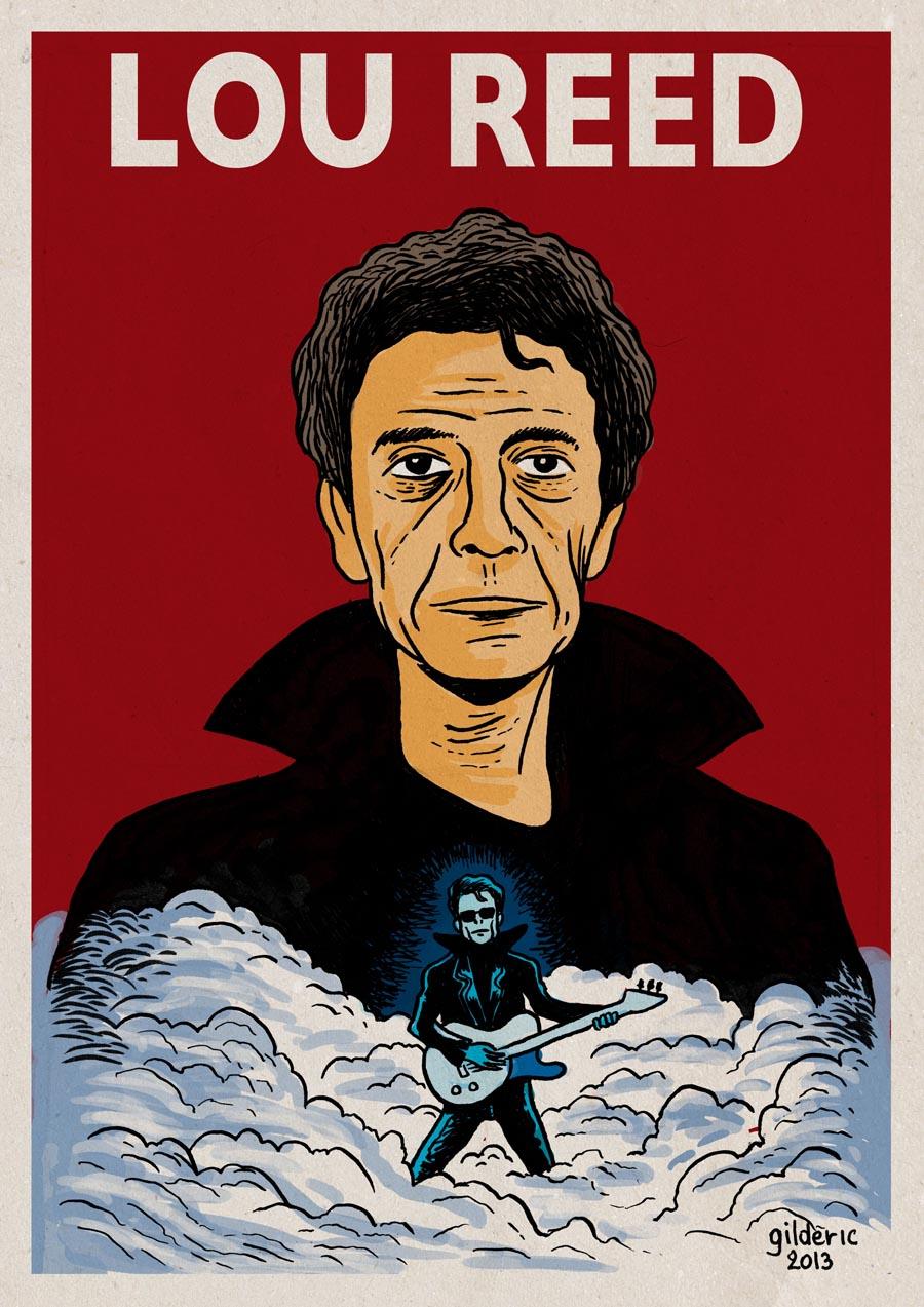 Lou Reed Poster - Dessin de Gilderic