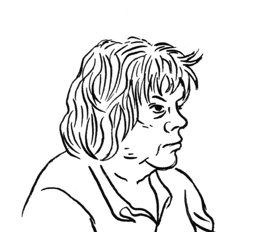 Profil de femme - dessin de Gilderic