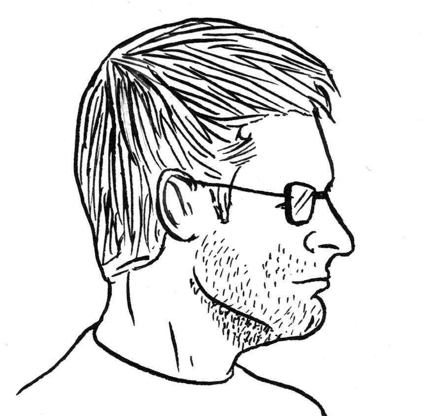 Profil d homme dessin de gilderic imagier - Dessin de profil ...