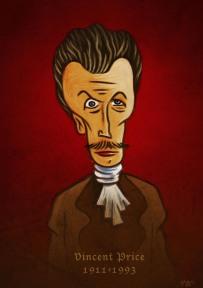 Vincent Price (caricature) - Dessin de Gilderic