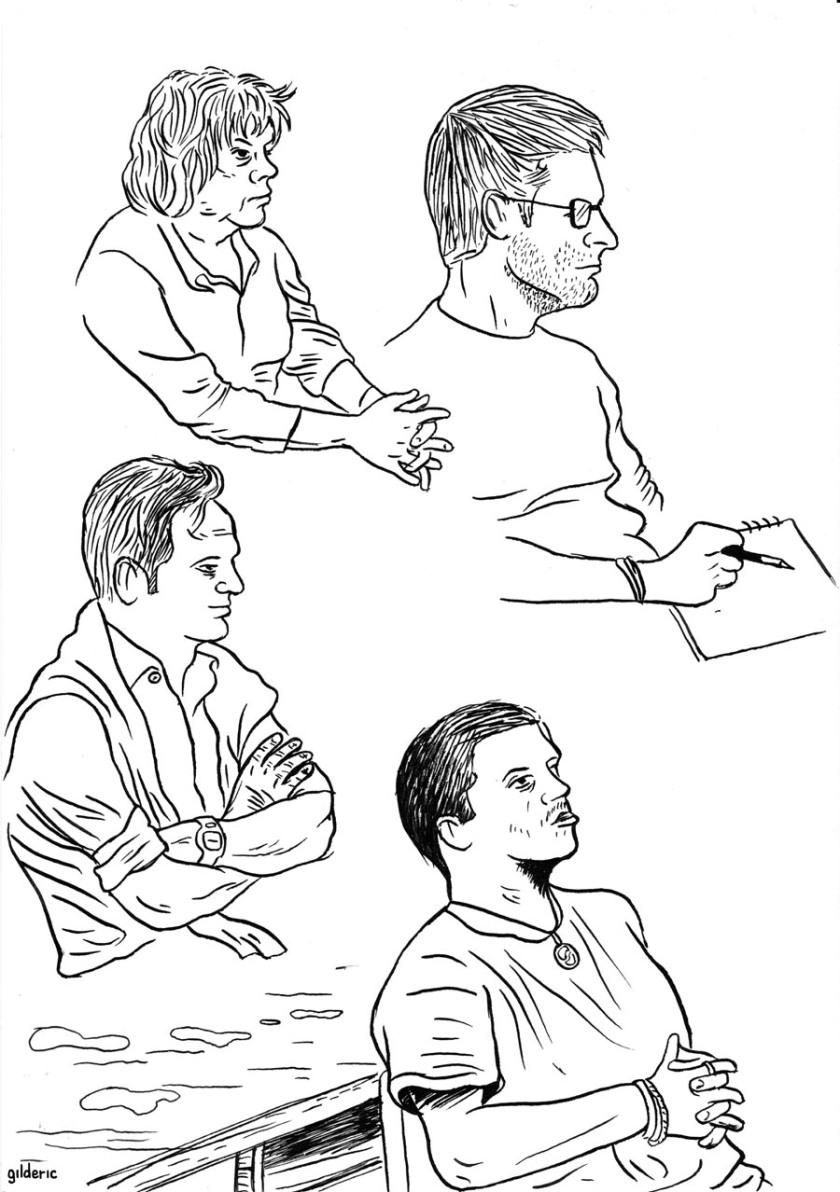Des visages, des figures : profils - Dessin de Gilderic