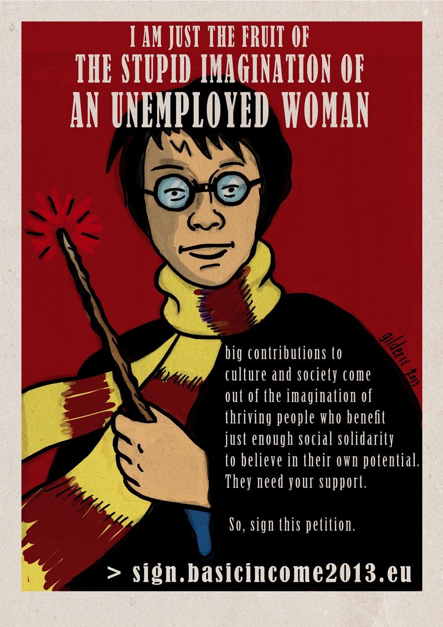 Poster Harry Potter (Basic Income)- Dessin de Gilderic