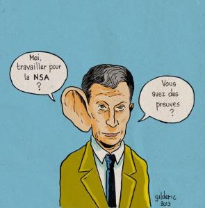 Oreille de la NSA - Dessin de Gilderic