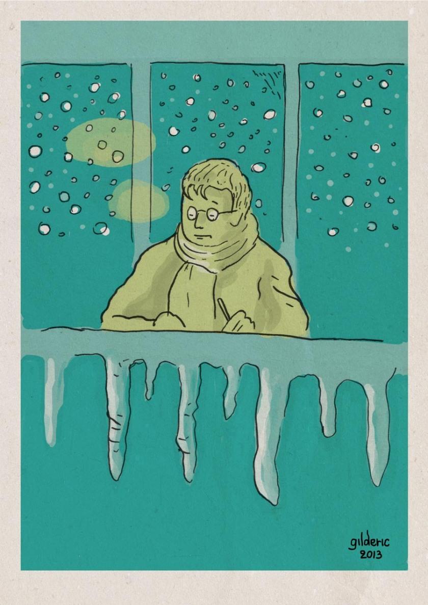Panne de chauffage (couleur) - Dessin de Gilderic