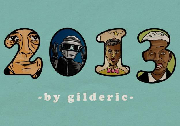 rétrospective 2013 - Dessins de Gilderic