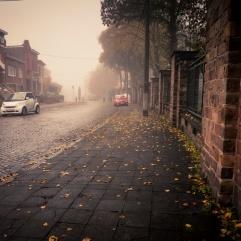 La voiture rouge (Grivegnée) - Photo : Gilderic