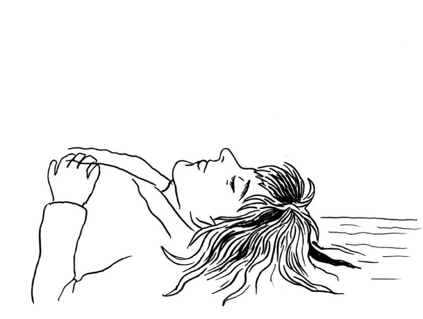 Visage endormi - Dessin à la plume de Gilderic