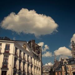 Nuage sur la Grand Place - Lille - Photo : Gilderic