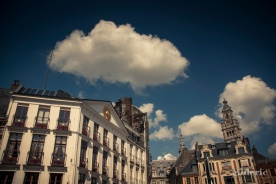 Nuage sur la Grand Place - Lille - Photo : Gilderic