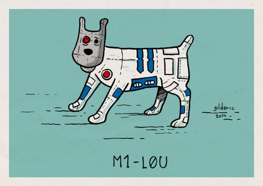 Tintin Star Wars : Milou - Dessin de Gilderic