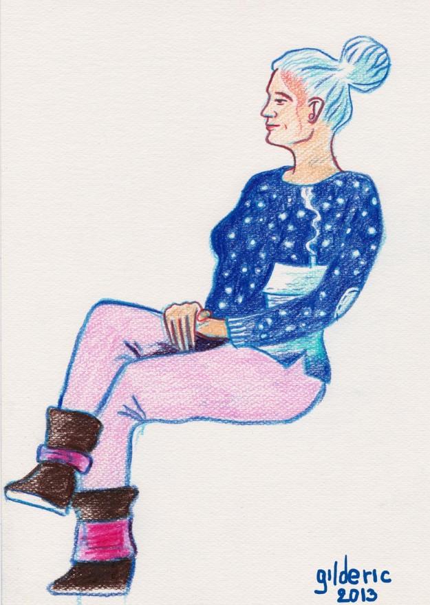 Des visages, des figures : Winter Blues - Dessin de Gilderic