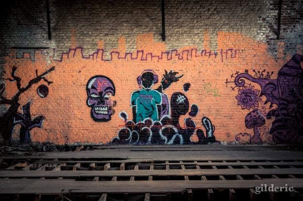 Graffiti, Fort de la Chartreuse (Liège, Belgique) - Photo : Gilderic