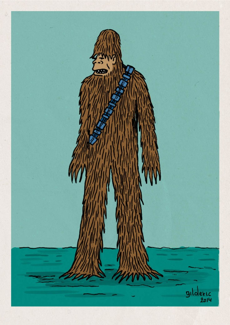 Tintin Star Wars : Chewbacca le Yeti - Dessin de Gilderic