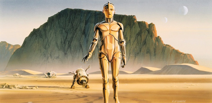 Ralph McQuarrie - Star Wars production painting