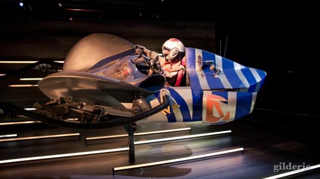 Anakin Skywalker costume et podracer, Star Wars Identities, Paris - Photo : Gilderic