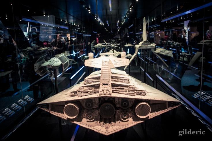 Maquettes de vaisseaux, Star Wars Identities, Paris - Photo : Gilderic