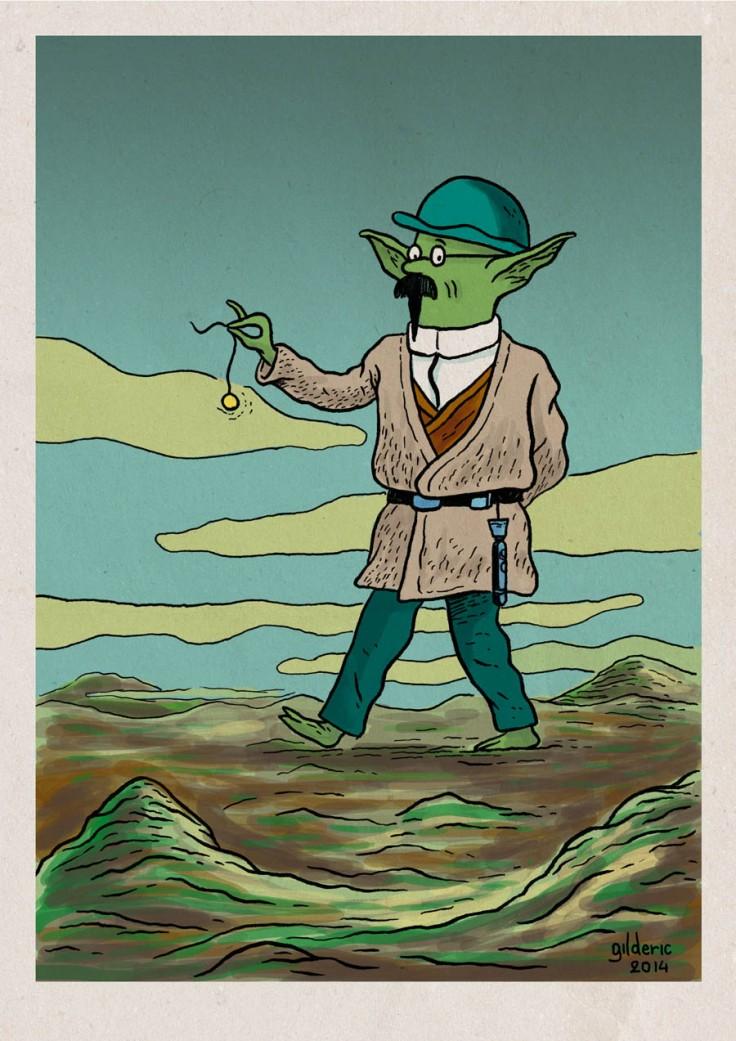 Tintin Star Wars : Yoda Tournesol - Dessin de Gilderic