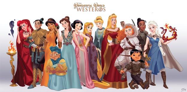 Princesses Disney vs Game of Thrones -  par DjeDjehuti