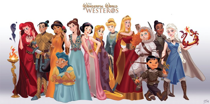 Princesses Disney vs Game of Thrones -  par DjeDjehuti