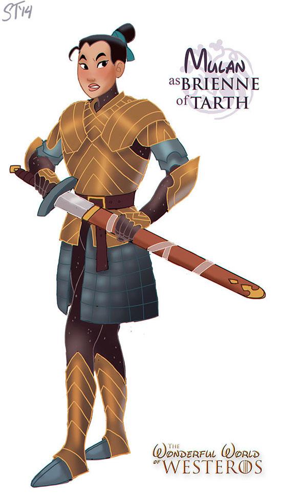 Mulan est Brienne de Tarth (dessin : DjeDjehuti)