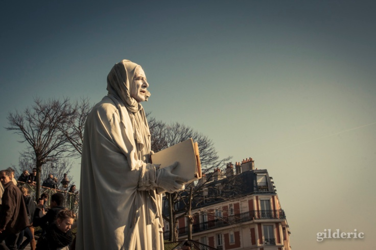 La statue vivante de Montmartre (Paris) - Photo : Gilderic