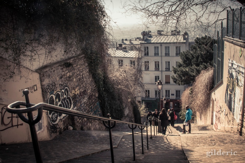 Les escaliers de Montmatre, Paris - Photo : Gilderic
