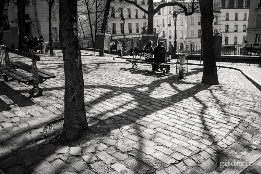 Les amoureux de Montmatre, Paris - Photo : Gilderic