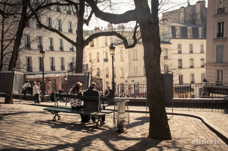 Les amoureux de Montmatre, Paris - Photo : Gilderic