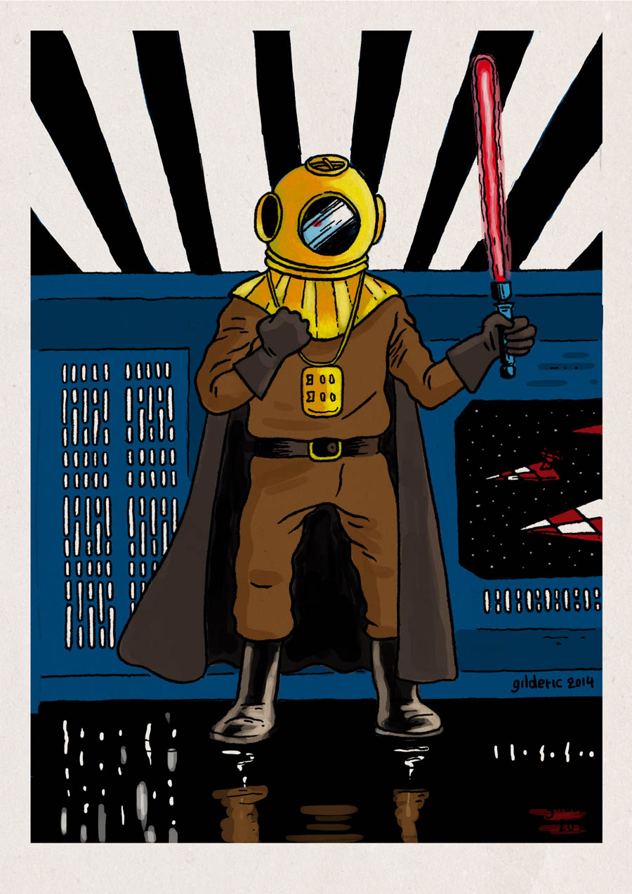 Tintin Vs Star Wars Vii Dark Vador Imagier