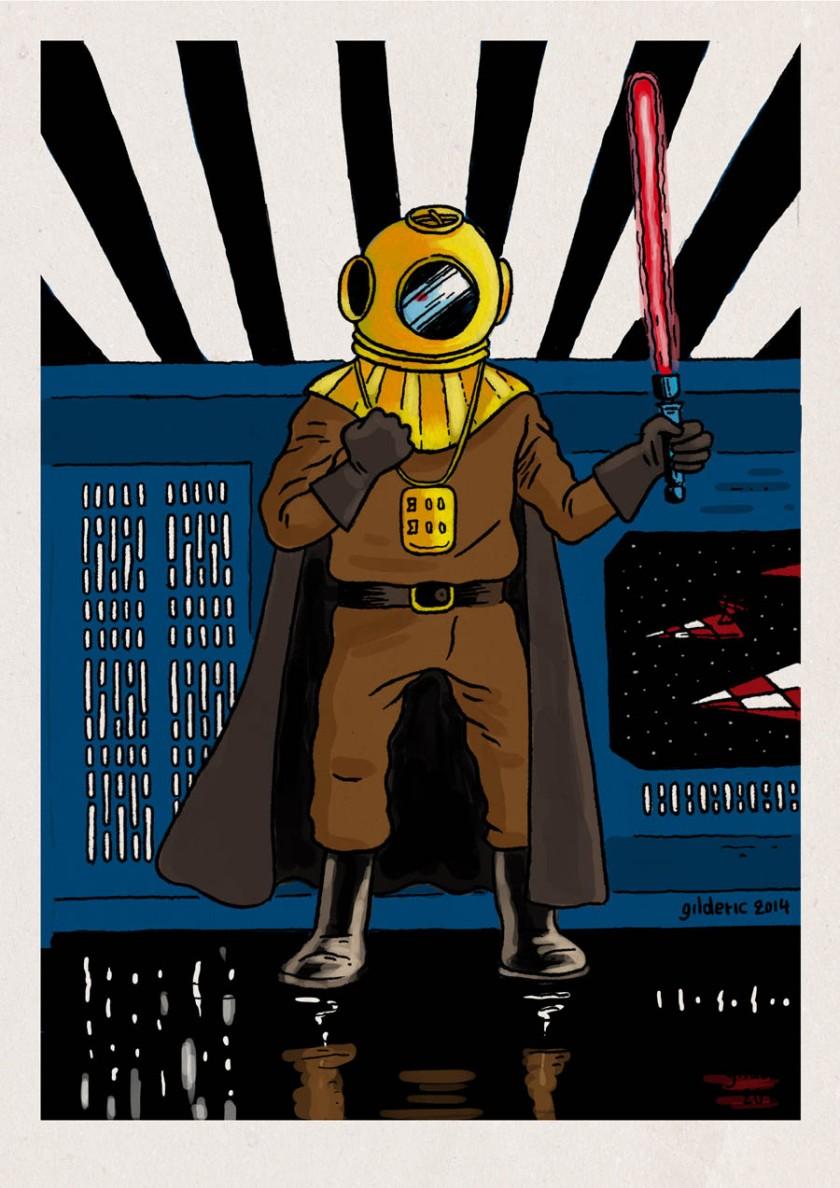 Tintin Star Wars : Dark Vador - Dessin de Gilderic