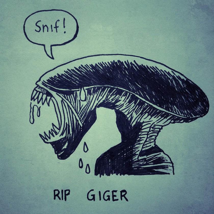 Alien (RIP HR Giger) - Dessin de Gilderic