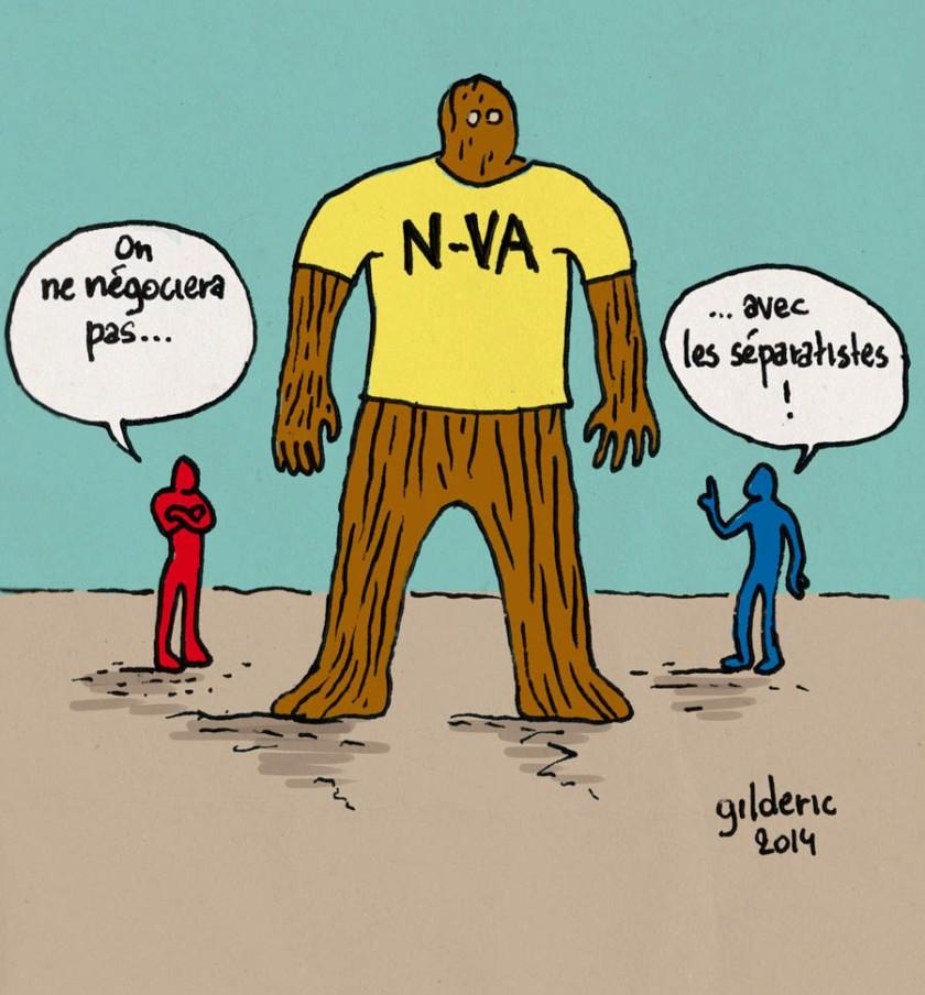 Elections 2014 : on ne négocie pas avec les séparatistes - Dessin de Gilderic
