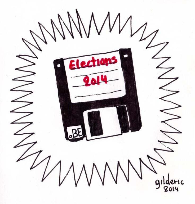 Elections 2014 - (disquette) - Dessin de Gilderic