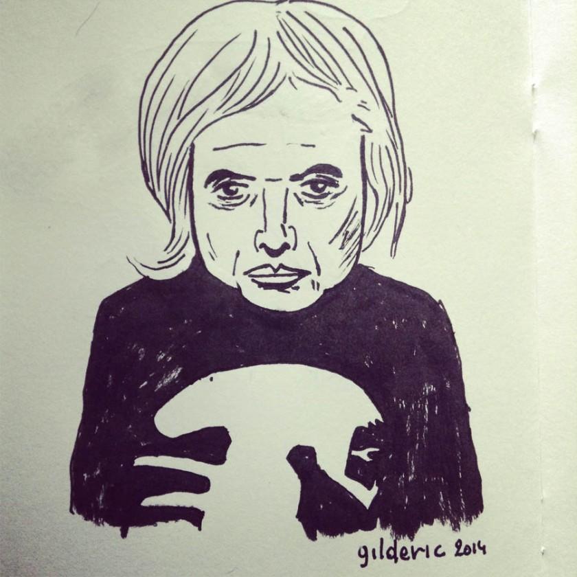H.R. Giger (portrait) - Dessin de Gilderic