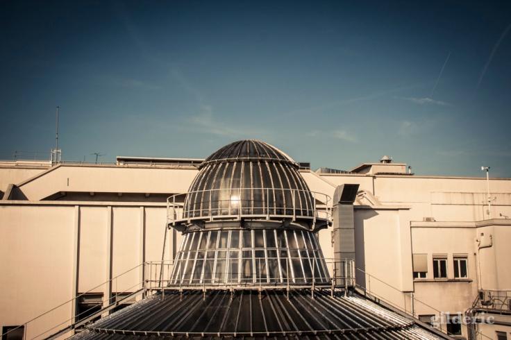 Sur le toit des Galeries Lafayette à Paris - Photo : Gilderic