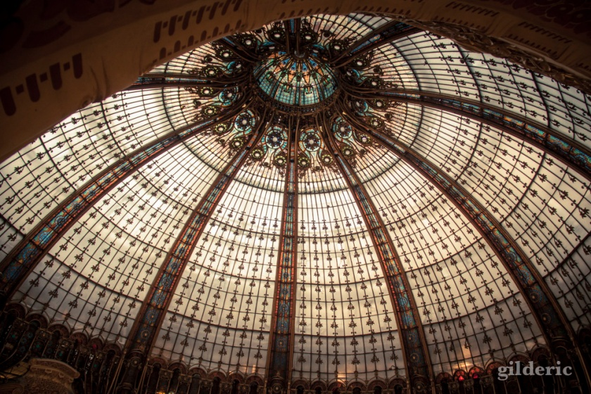 La coupole des Galeries Lafayette - Photo : Gilderic