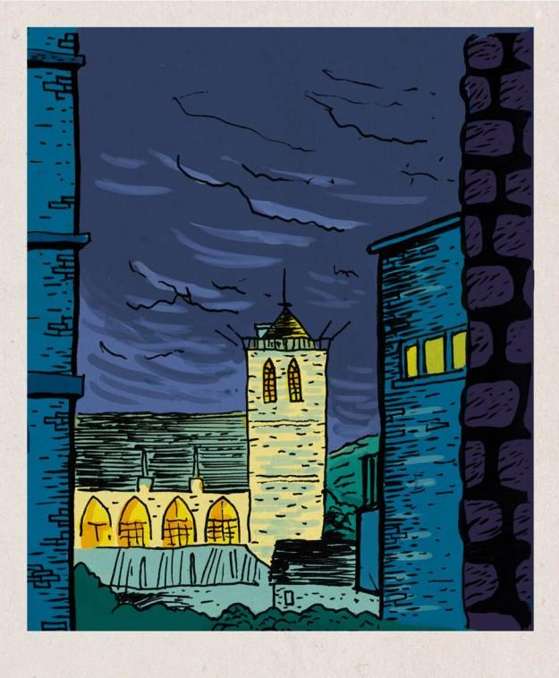 Saint-Martin (Liège, Belgique) - Dessin de Gilderic