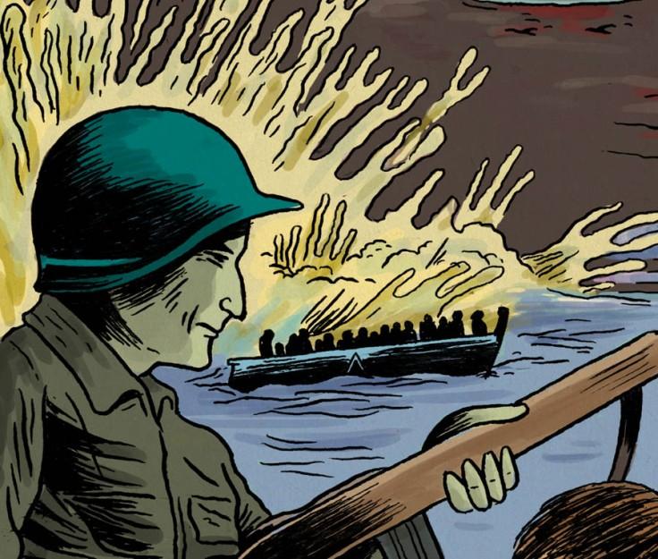 6 juin 1944 - débarquement en Normandie - dessin de Gilderic