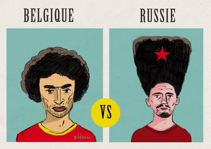 Coupe du Monde 2014 : Belgique-Russie - Dessin de Gilderic