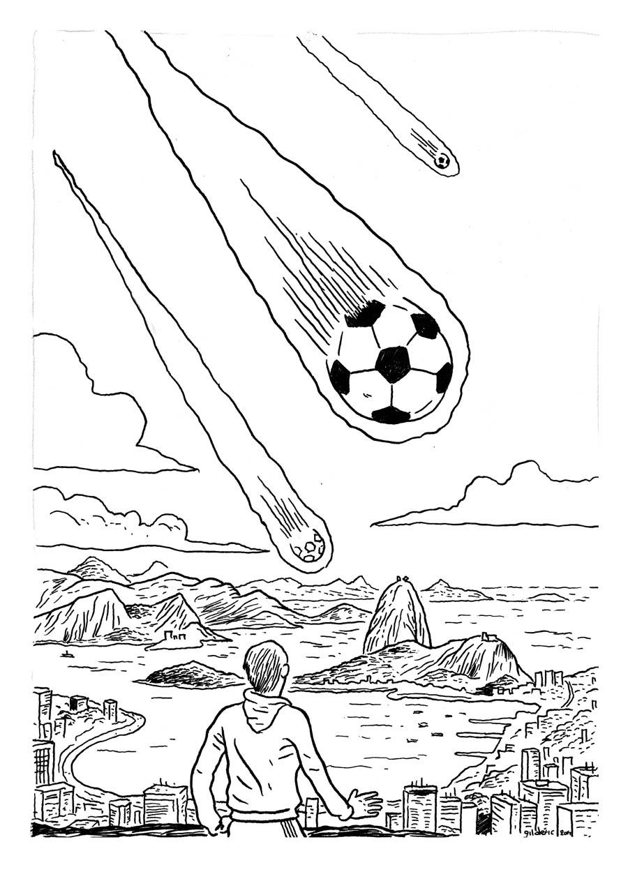 Derniers jours avant la coupe du monde de foot imagier - Dessin en coupe ...