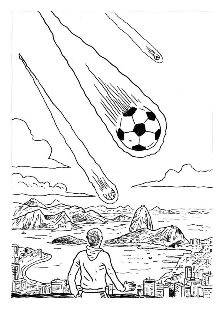 Coupe du Monde 2014 à Rio (Brésil) - Dessin de Gilderic