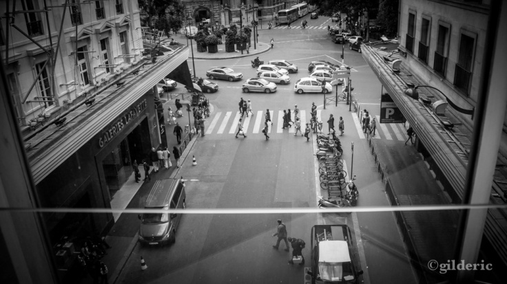 Les rues de Paris (depuis les Galeries Lafayette) - Photo : Gilderic
