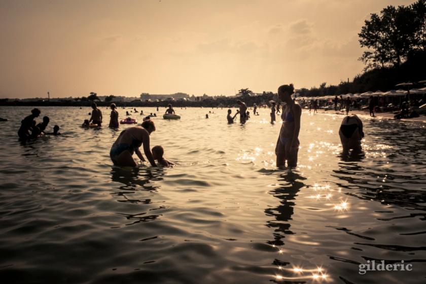 Fin de journée sur la Mer noire (Bulgarie) - Photo : Gilderic