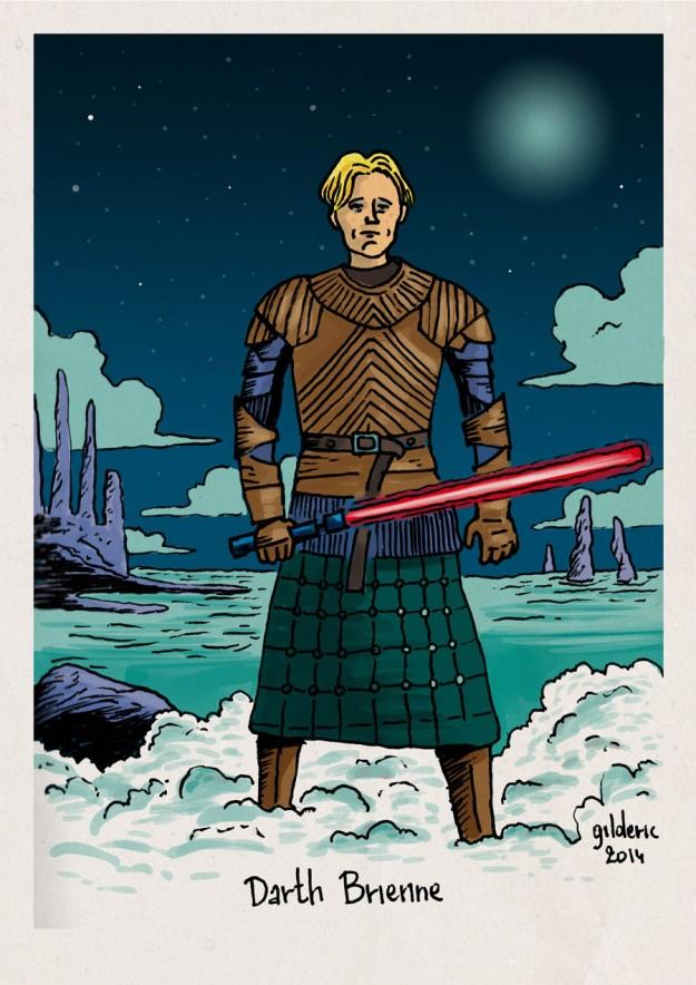 Star Wars vs Game of Thrones : Darth Brienne - Dessin de Gilderic